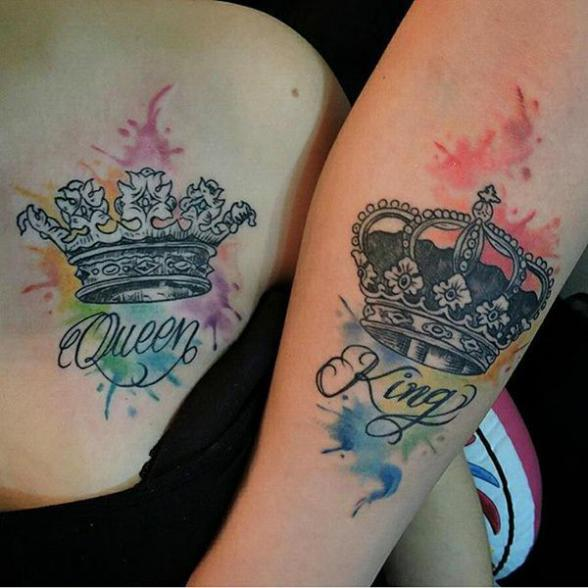Top 50 King And Queen Tattoos For Loving Couples Wittyduck,Hand Made Embroidery Designs On Shirts